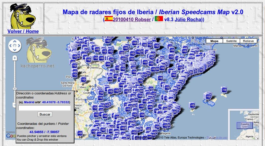 mapa de radares Cosas de AlGarVe: Mapa de radares versión 2.0 de kachoperro mapa de radares