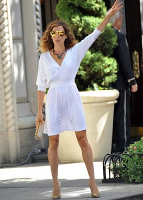 Woman In White In New York