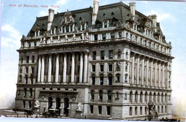 Hall of Records. New York, 1900 Minecraft Map