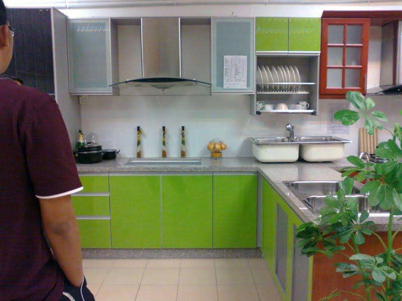 Kabinet Dapur Hitam Hijau Desainrumahid