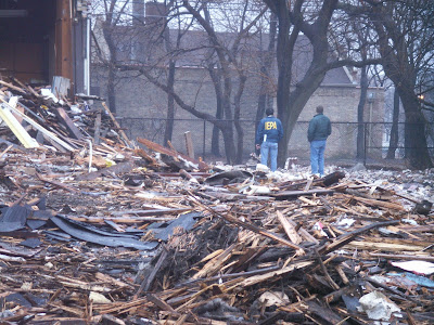 IEPA inspecting the demolition of the North Shore School in Rogers Park
