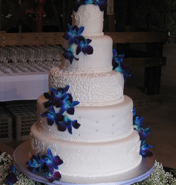 m s wedding cakes 2 s cakes blue orchid wedding cake 17638