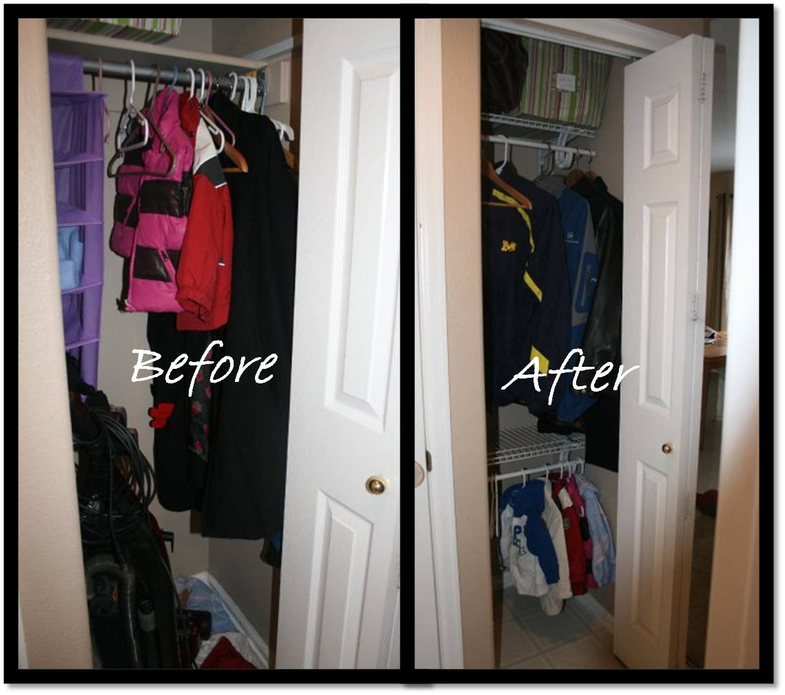 Delightfully Organized Coat Closet Makeover