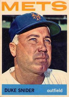 centerfield maz: Remembering Mets History: (1963) Duke Snider's