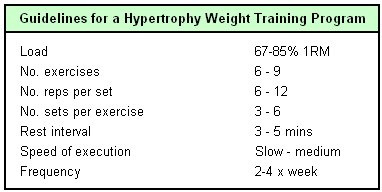 Muscle hypertrophy program : Q park soho
