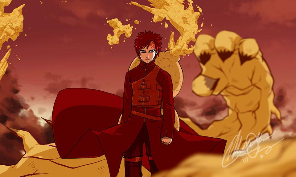 Powers Controling Sand Sabaku No Gaara Naruto Sasuke Wallpaper