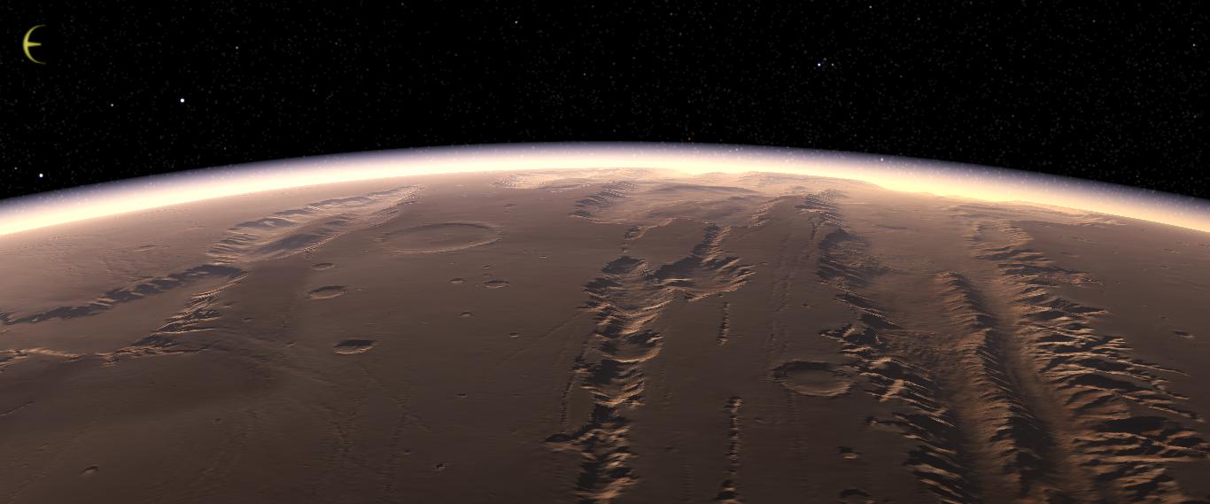 mars surface gravity