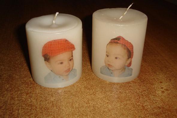 Κερί με φωτογραφία