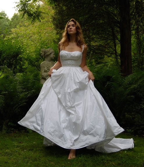 Silk Taffeta Wedding Gowns: Wedding Dress Photography: Silk Taffeta Bridal Gowns