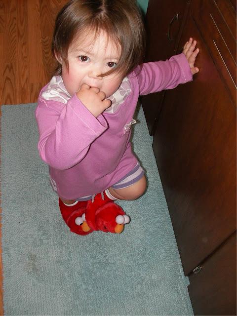 cuddly little elmo feet...
