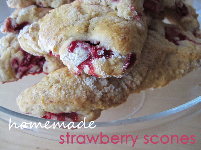 recipe: strawberry scones