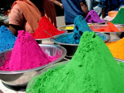 NAMC Montessori classroom holi festival activities culture curriculum powdered paint gulal