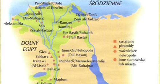 Egipt Mapa Starozytnego Egiptu