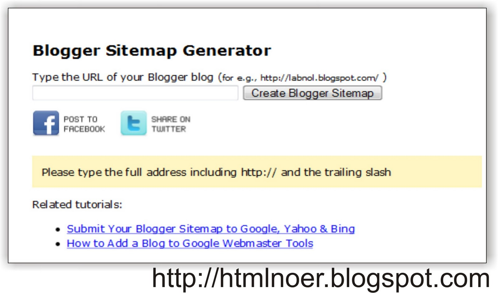 submit sitemap buat blog blogger