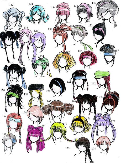 anime style hair