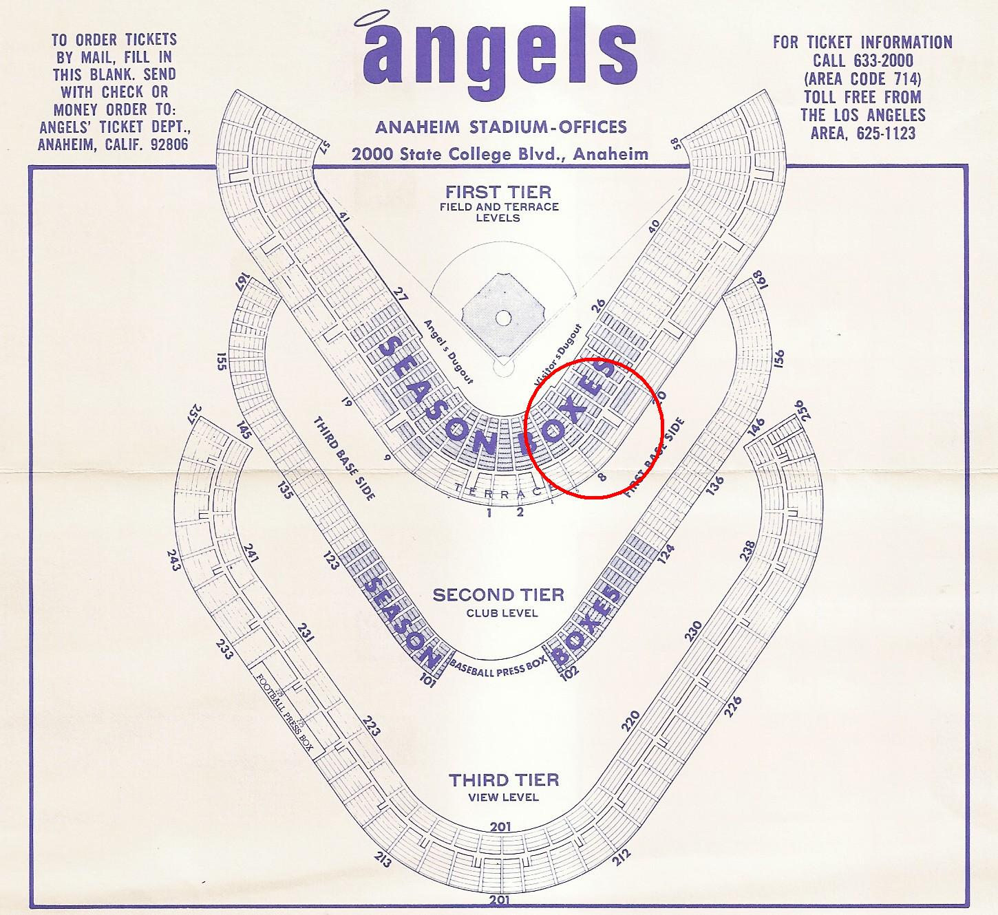 The Angels In Order January 2017 1971seatchart77 01 Stadium Seating Map