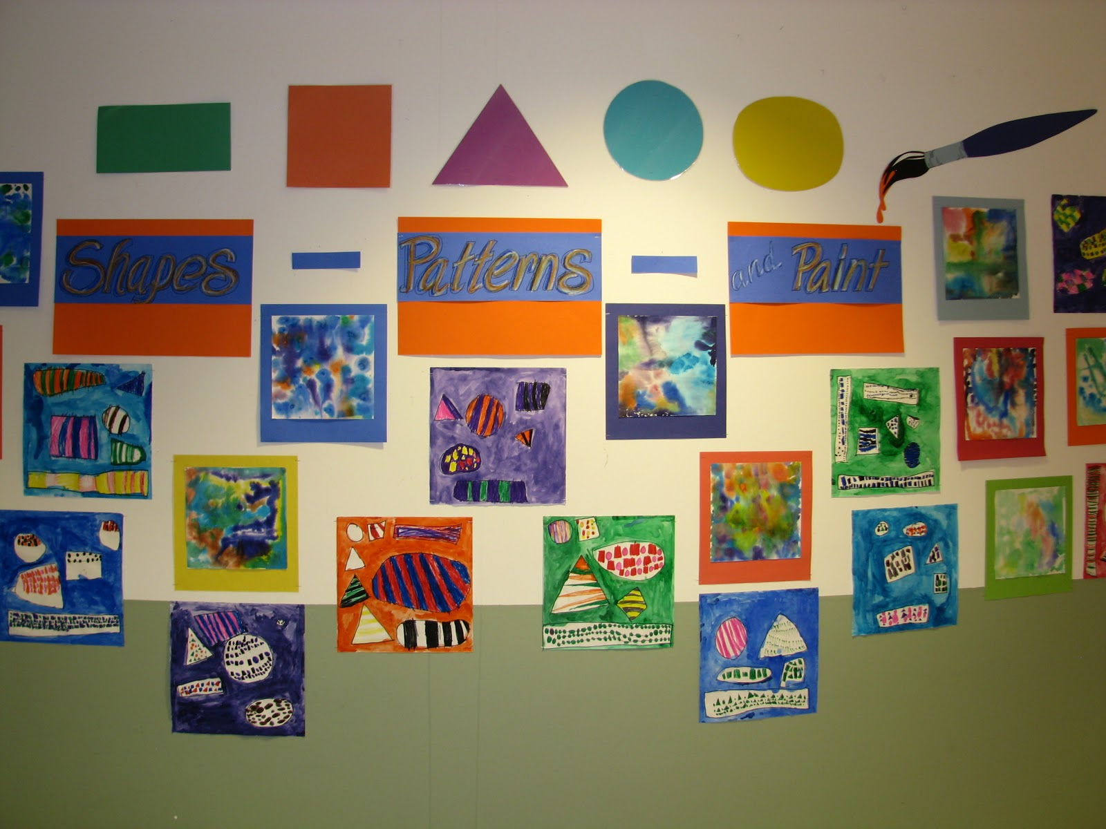 WES Kindergarten Art: SHAPES, PATTERNS AND PAINT