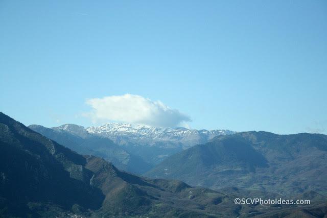 Pindus mountain range with a cloud cap