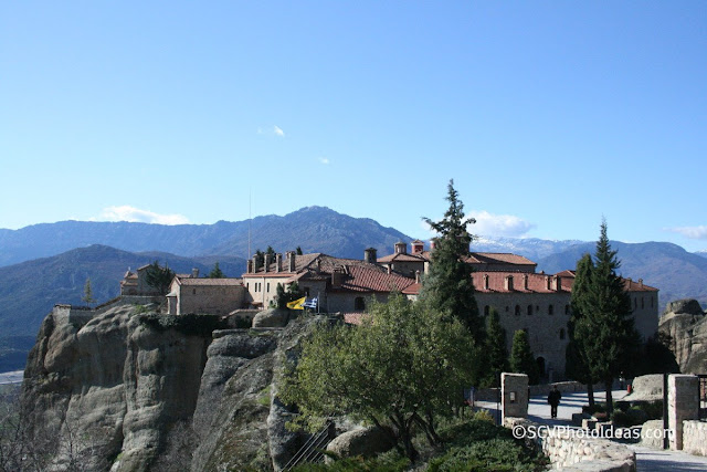 Meteora monastery closeup