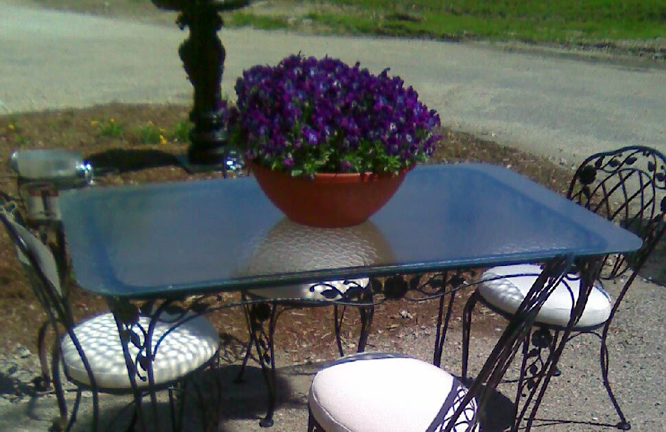 Midsummer Gardens Vintage Wrought Iron Patio Furniture Is
