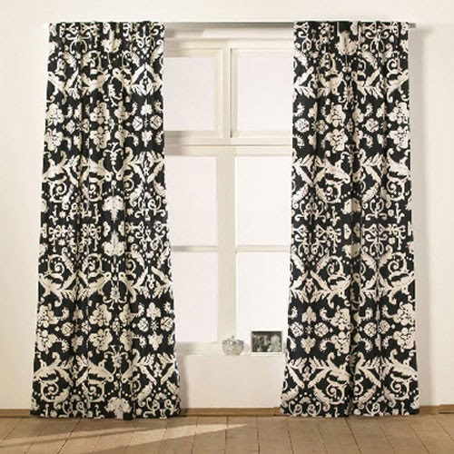 Lisa Canning: Around The House Thursday: Damask Curtains