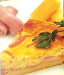 Receta de Pastel de Jamón y Queso
