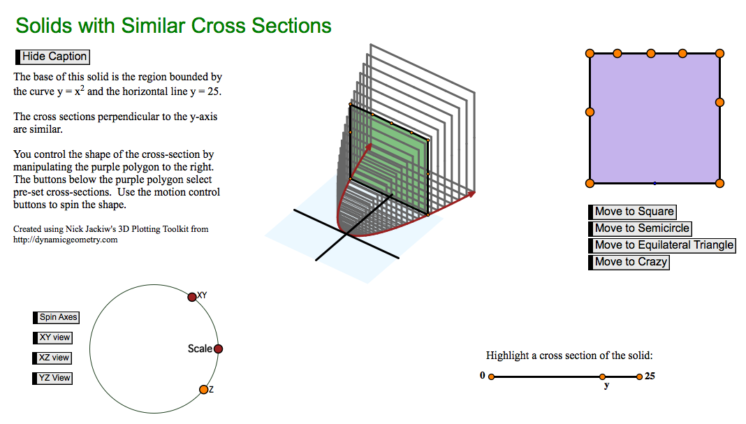 Burchell's Math Blog: calculus: solids by cross section