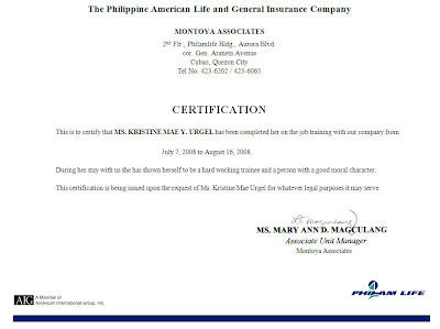 Sample good moral certificate for elementary images certificate ojt certificate sample for hrm image collections certificate 100 ojt certificate of completion sample certificate ojt yadclub Gallery
