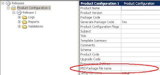 Installshield: Change product name, but not MSI file name