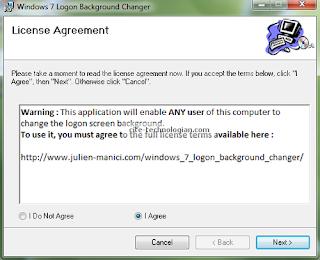 Windows 7 Background Changer License Agreement