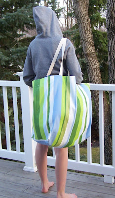 Over-Sized  Tote Bag and a Rice Bag