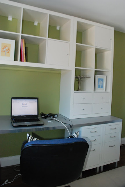 ikea home office, office for two, ikea office hack, ikea expedit on walls