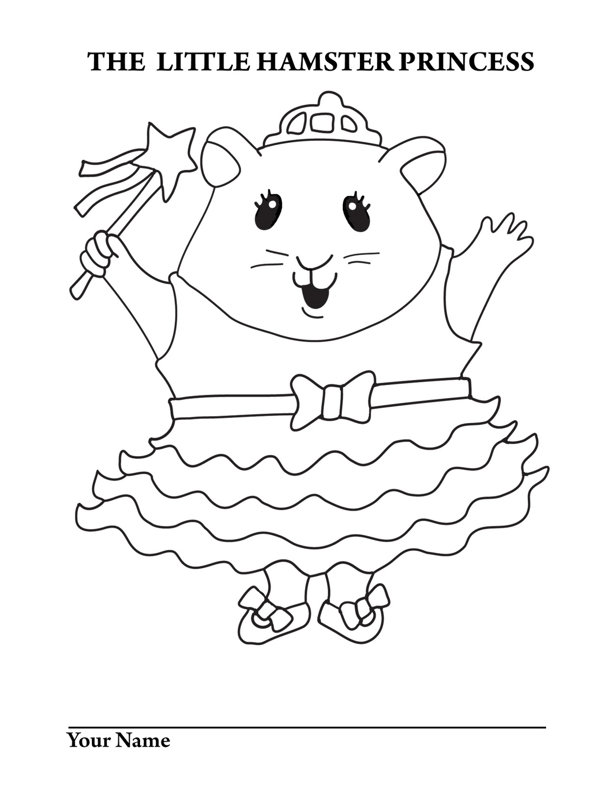 Little Hamster Princess Little Hamster Princess Coloring Page