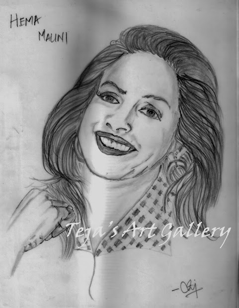 Art Gallery Sketch Pencil Drawing