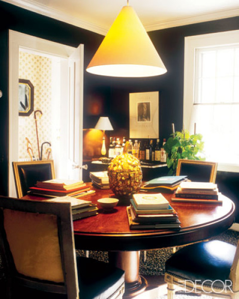 Dining Rooms From Elle Decor: Musings: Made In The Shade