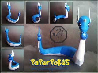 Pokemon Dragonair Papercraft