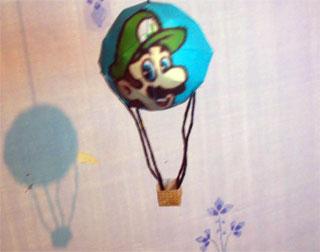 Luigi Hot Air Balloon Papercraft Mario Kart 64 Paperkraft Net