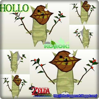 Legend of Zelda Korok Hollo Papercraft