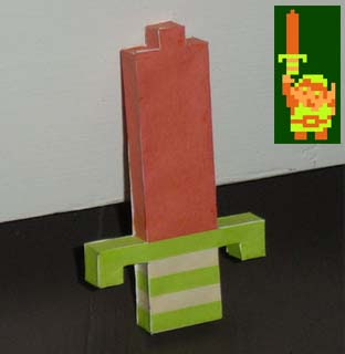 Legend of Zelda 8bit Papercrafts