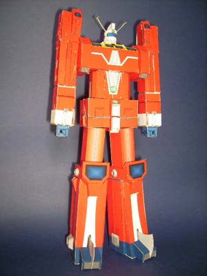 Space Runaway Ideon Mecha Papercraft