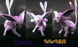 Pokemon Espeon Papercraft