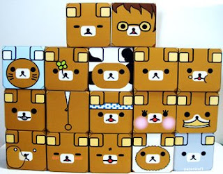 Relax Bear Emoticube Papercraft