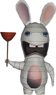 Raving Rabbid Papercraft