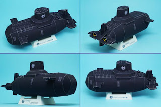 Mini Submarine Typhoon Papercraft