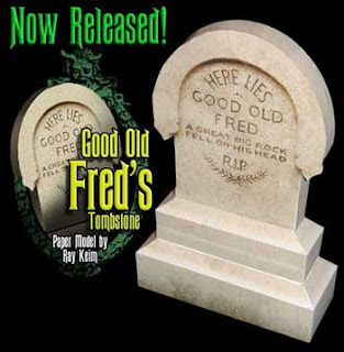 Goold Old Fred Tombstone Papercraft