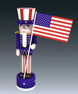 Uncle Sam Papercraft