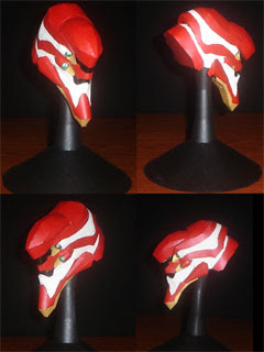 Evangelion Unit 02 Papercraft Head