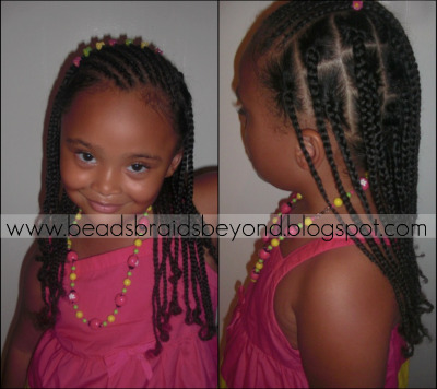 Awesome Beads Braids And Beyond Slanted Cornrows And Natural Box Braids Hairstyles For Women Draintrainus