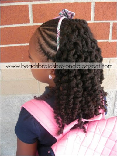 half cornrows with three strand twist out curlynikki natural