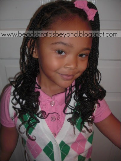 Beads Braids And Beyond Small Box Braids Curled With